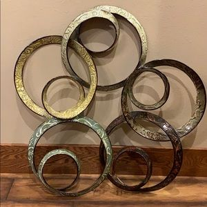 Rustic metal wall art
